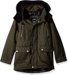 9cb72f317 Amazon.com  Urban Republic Boys Wool Officer Jacket Hood  Clothing