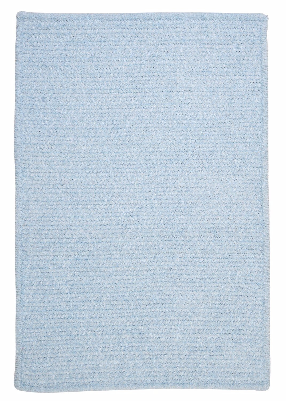 Ambiant Sky Blue Chair Pad M502 Kids / Teen Blue 15''X15'' (SET 4) - Area Rug