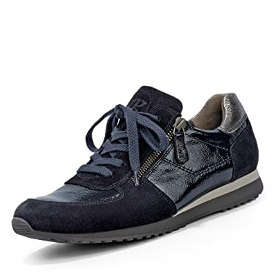 Paul Green 4252-573 Damen Sneaker aus Lack- und Veloursleder Flexible Laufsohle