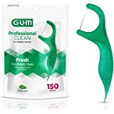 GUM Professional Clean Flossers (150 Flossers, Pack of 4) Fresh Mint