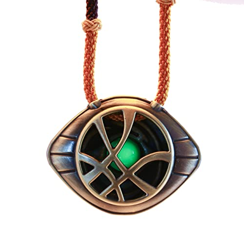f15f629b7 Amazon.com: Cosplay World Doctor Strange Necklace Eye of Agamotto Costume  Pendant 2.2 inches: Jewelry