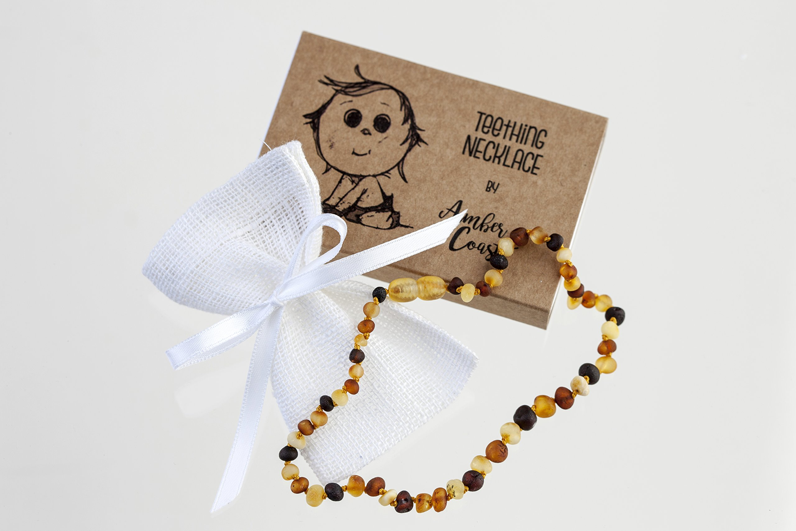 Lab tested Amber Teething Necklace for Babies (Unisex) (Multi-color)