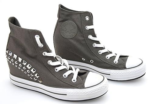 b7a99ca2e3bd3 Converse Scarpa Sneaker con Zeppa Interna Donna Canvas Carbone Art. 542425C   Amazon.it  Scarpe e borse