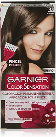 Garnier Color Sensation - Tinte Permanente Castaño Luminoso 4.0, disponible en más de 20 tonos