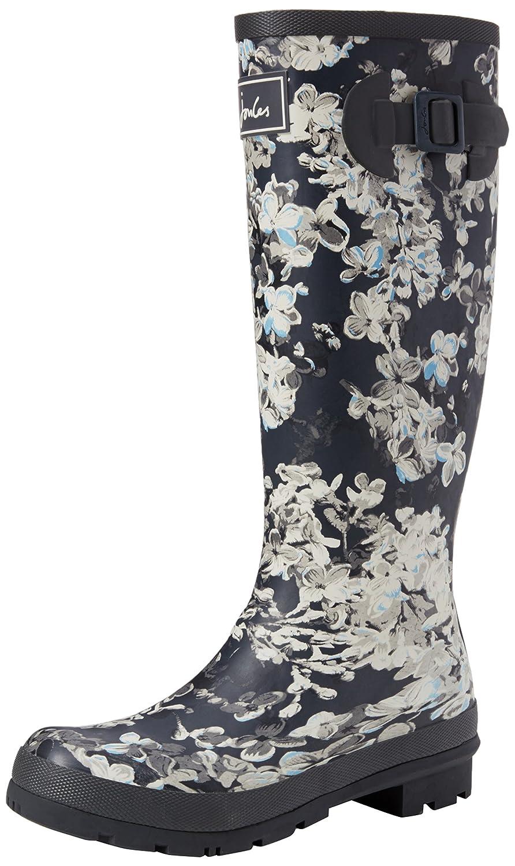 Joules Women's Welly Print Rain Boot B01MG5KR3E 6 M US|Grey Cara Floral