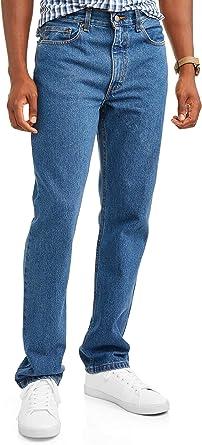 Amazon Com George Pantalones Vaqueros De Ajuste Regular Para Hombre Clothing
