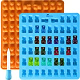 2 Pack 53 Cavity Silicone Gummy Bear Mold With a