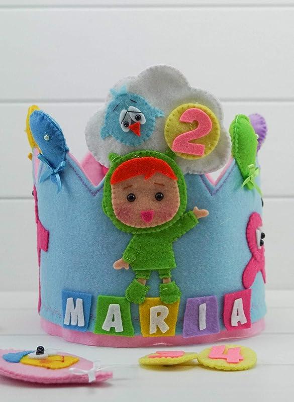 Corona Cumpleaños Infantil Personalizada Nina (Pocoyó)