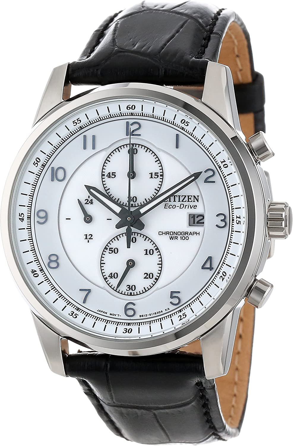 Citizen Men s CA0331-05A Eco-Drive Stainless Steel Chronograph Watch