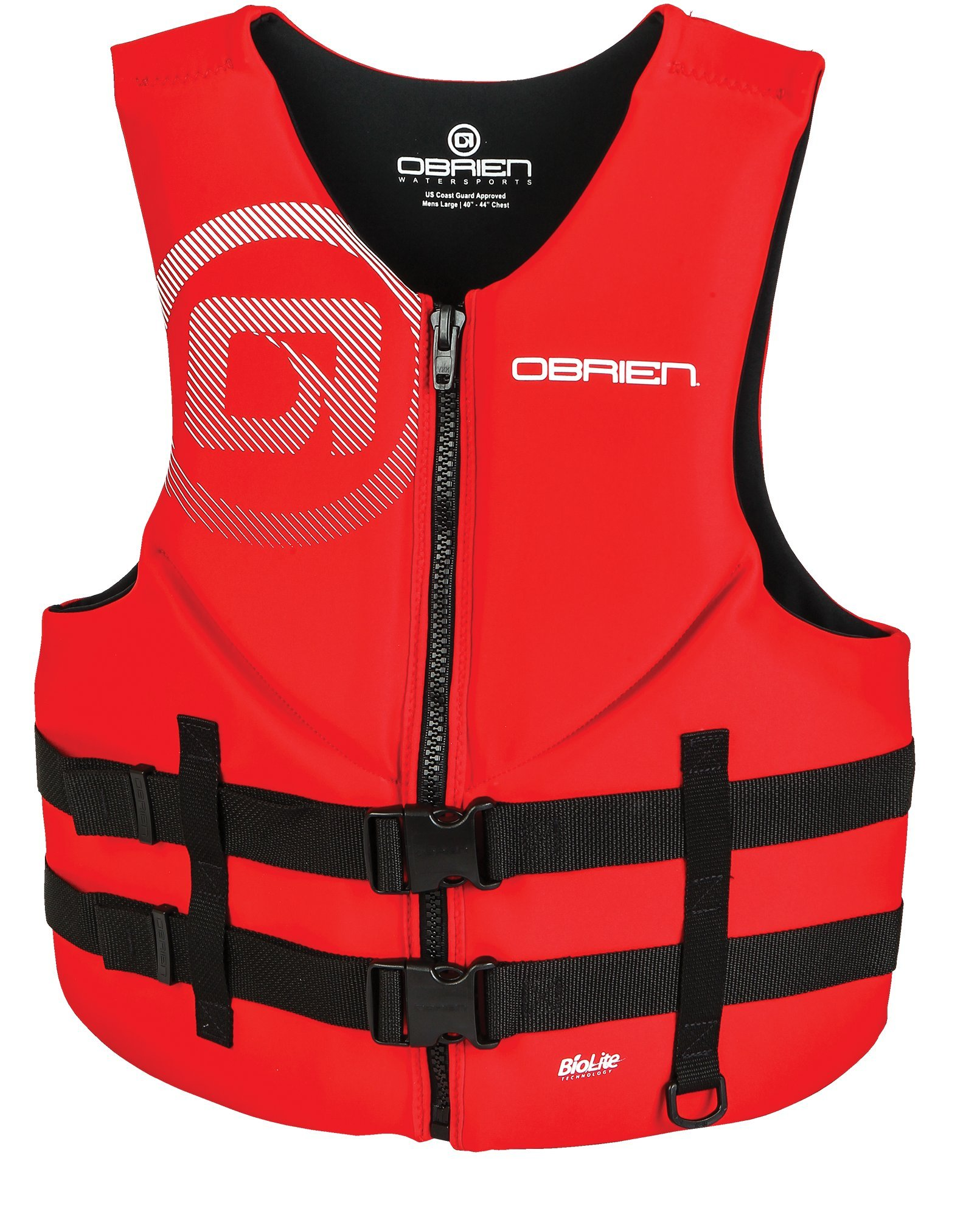 O'Brien Men's Traditional Neoprene Life Jacket, Red, XX-Large by O'Brien