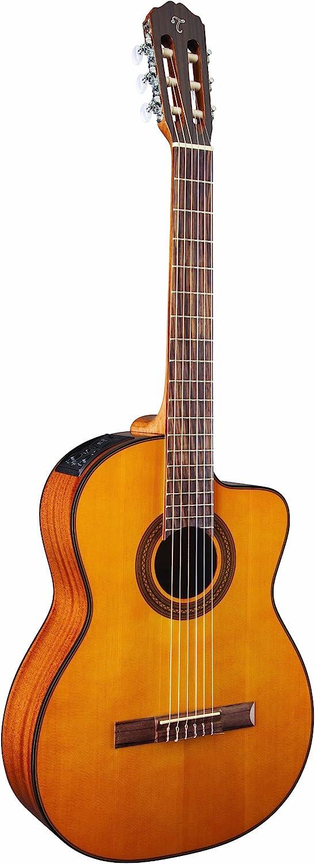 Takamine Guitarra eléctrica de cuerpo sólido de 6 cuerdas, diestro, natural (GC1CENAT), mediano