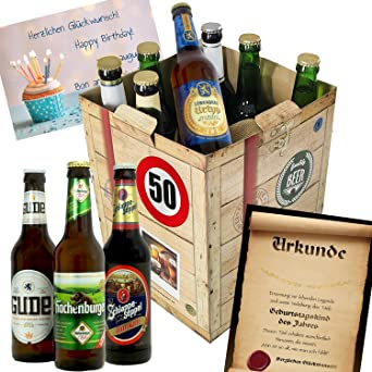 Geschenkideen Fur Manner Zum 50 Bierbox Bierbewertungsbogen