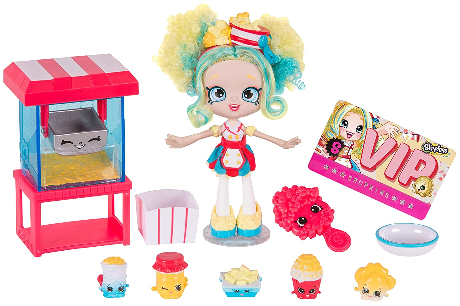 Shopkins shoppies popette s popcorn stand for for Happy playsets