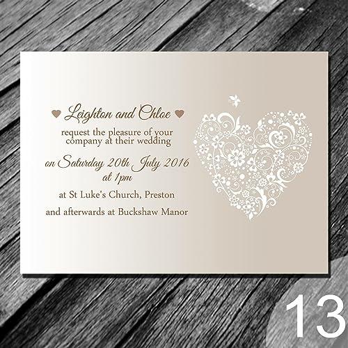 Discount Photo Wedding Invitations: Wedding Invitation Cards: Amazon.co.uk
