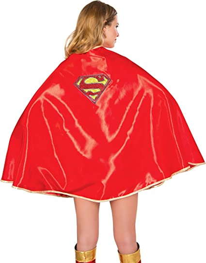 As Shown Rubies DC Comics Supergirl Adult Deluxe 30-Inch Cape One Size