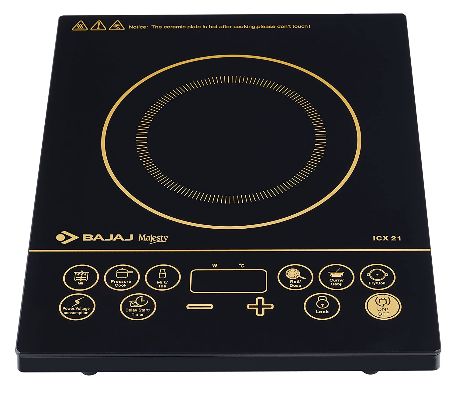 Buy Bajaj Majesty ICX 21 2000-Watt Induction Cooktop Online at Low Prices  in India - Amazon.in