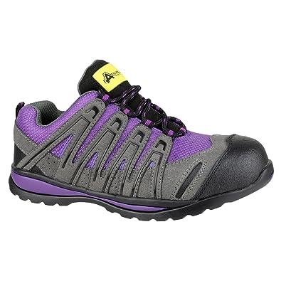 Amblers FS108C Safety Steel Toe Cap Ladies Trainers Purple