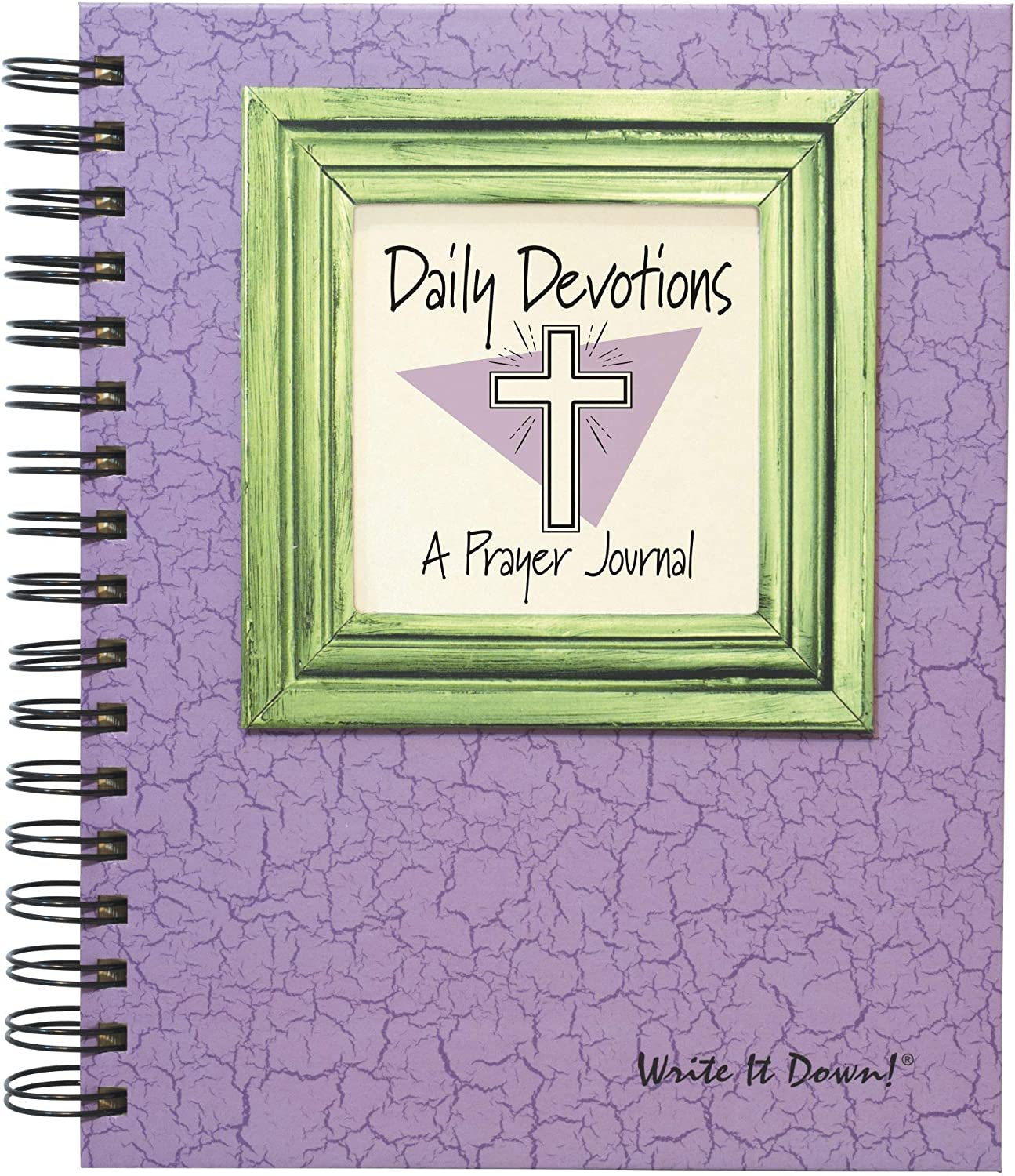 Daily Devotions, A Prayer Journal - Lilac Hard Cover (prompts on Every Page, Recycled Paper, Read More.)