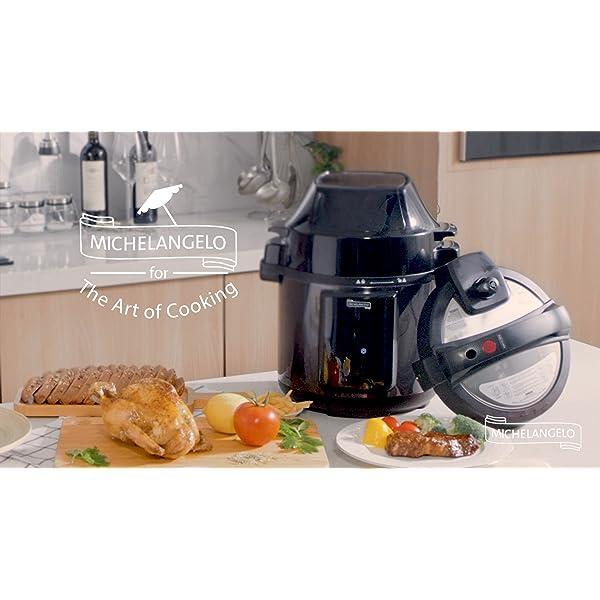 MICHELANGELO 6 QT Pressure Cooker Air Fryer Combo, All-in-1 Pressure Cooker with Air Fryer - Two Detachable Lids for… 7