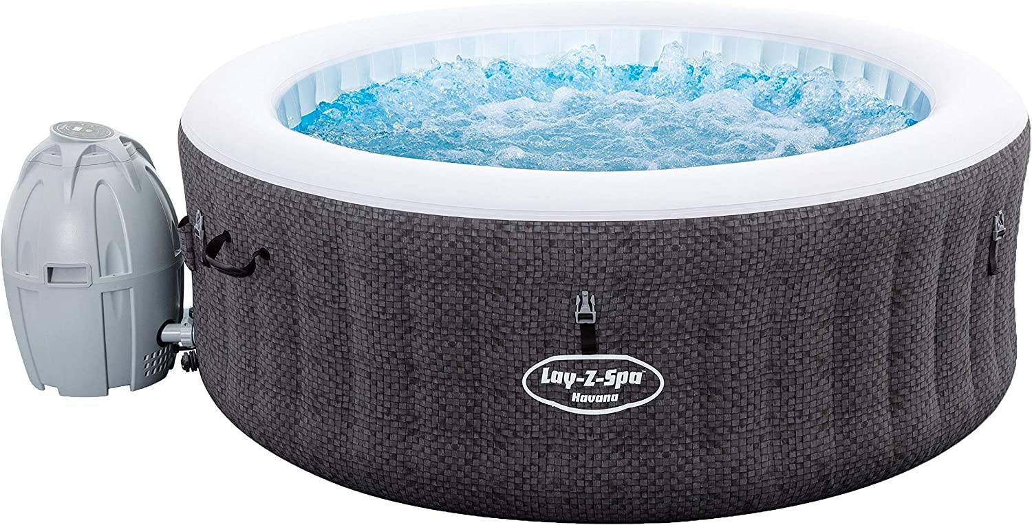 Bestway 54298 - Spa Hinchable Lay-Z-Spa Havana Para 2-4 personas Redondo: Amazon.es: Jardín