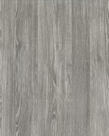 Pellicola Adesiva Rovere Grigio larghezza 45 cm in vinile effetto ...