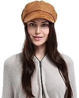 EOZY-Berretto con Visiera Donna Invernale Ottagonale Baschi Cappello Primavera