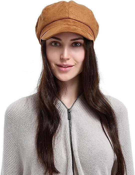 EOZY-Berretto con Visiera Donna Invernale Ottagonale Baschi Cappello  Primavera b77123f5b819