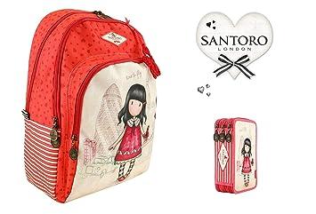 Mochila para Escuela Santoro gorjuss Time To Fly + Estuche de 3 Pisos Completo + (V + Regalo marcapáginas: Amazon.es: Equipaje