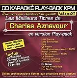 CD Karaoké Play-back KPM Vol. 21 ''Chrles Aznavour''