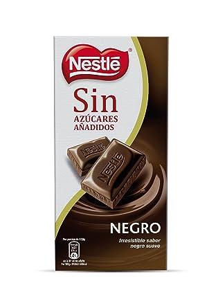 Nestlé Tableta de Chocolate Negro sin Azúcares Añadidos - Paquete de 18 x 125 gr -