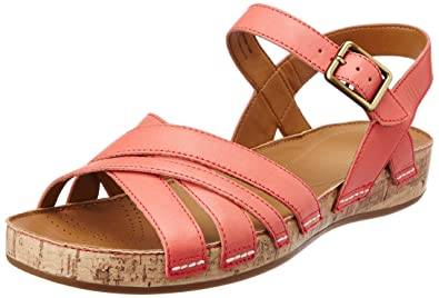9c2972d89874 Clarks Women s Raspberry Jam Coral (Fit D) Leather Fashion Sandals ...