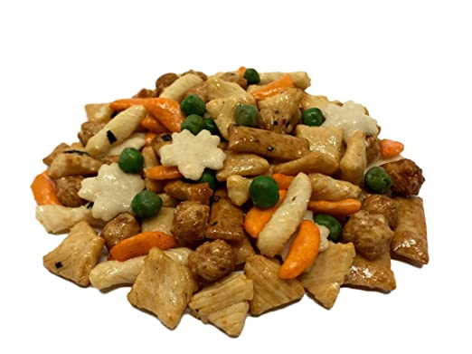NUTS US - Oriental Rice Crackers With Green Peas in Resealable Bag!!! (2 LBS)