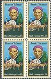 HARRIET TUBMAN ~ ABOLITIONIST ~ BLACK HERITAGE ~ BLACK HISTORY #1744 Block of 4 x 13¢ US Postage Stamps
