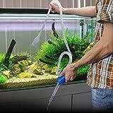 HDE Aquarium Cleaner Gravel Vacuum Fish Tank Siphon Pump for Changing Water