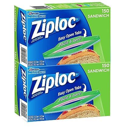 Ziploc Sandwich Bolsas, 6.5 x 5.7 in: Amazon.com: Grocery ...
