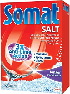 Somat Anti-Lime Action Dishwasher Salt 3.3 Pounds (Pack of 2)