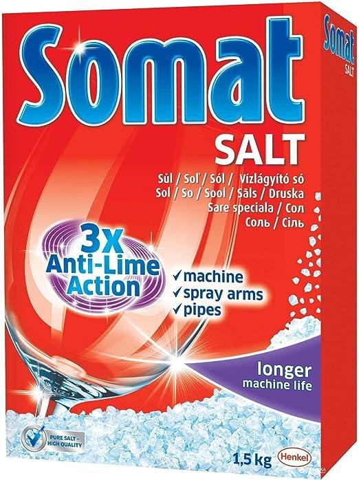 Amazon Com Somat Anti Lime Accion Lavaplatos Sal 3 3 Libras Pack