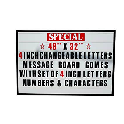 48x32 outdoor changeable letter message board marquee sign with metal frame clear