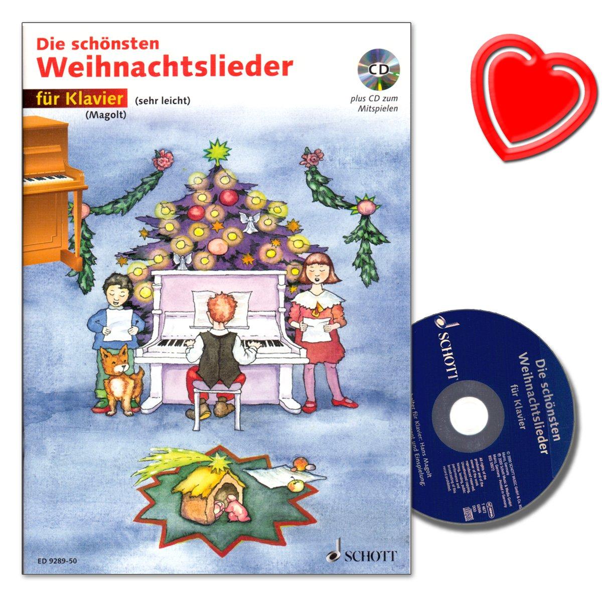 Die schönsten Weihnachtslieder mit CD für Klavier (sehr leichte) von ...