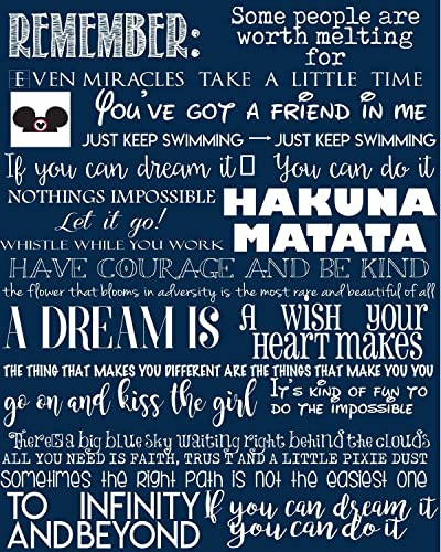 Amazon Favorite Disney Quotes Disney Art Canvas Typography