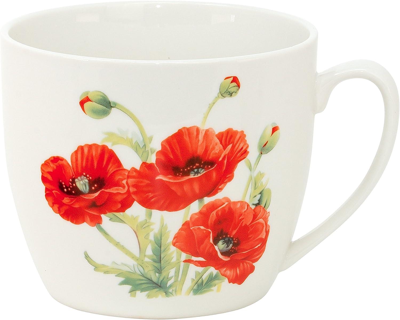 Katzen Jumbo-Tasse XXL Kaffee-Becher Kaffeetasse Porzellan Teetasse Geschenk-Tasse Trinkbecher Mug 750 ml von DUO in Geschenkbox