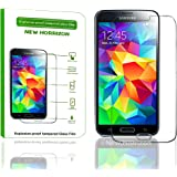 New Horrizon - Tempered-Glass Explosion - Proof Screen Protector for Samsung Galaxy S4 Premium Crystal Clear - High Quality 9H Hardness