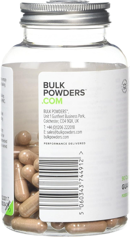 BULK POWDERS Guarana Capsules 400 mg Pack of 90