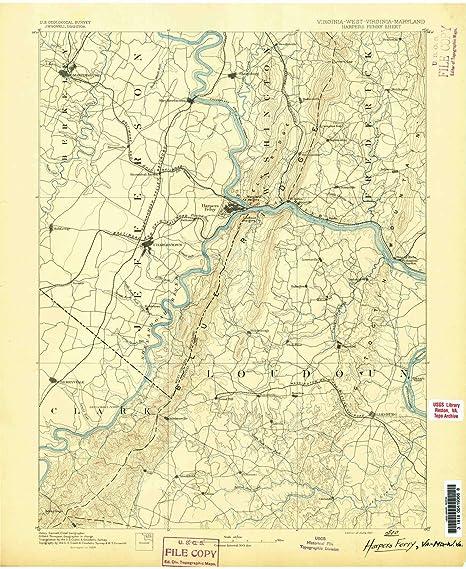 Harpers Ferry Virginia Map.Amazon Com Yellowmaps Harpers Ferry Va Topo Map 1 125000 Scale 30
