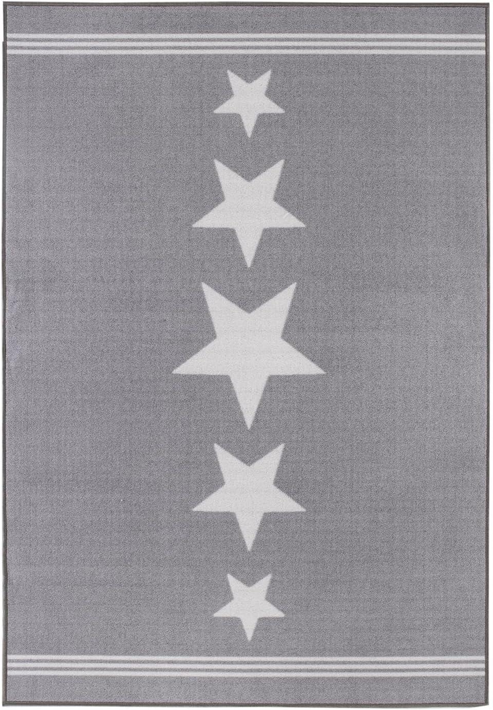 Misento Alfombra 100/% Poliamida 80 x 150 cm Gris Claro
