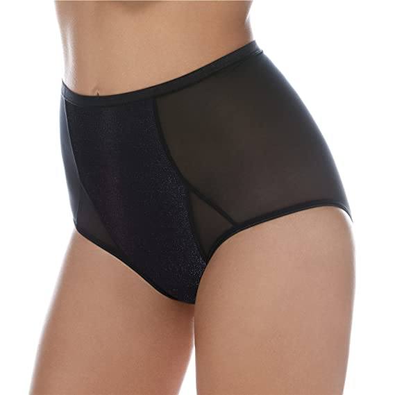 e7c57149b2aa2 Body Wrap Lingerie Mid Waist Panty in Soft-Shaping Mesh - Gently Contours -  Iridescent