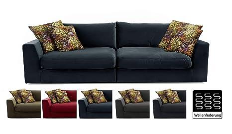 CAVADORE Big sofá Fiona/XXL de sofá con Asiento y Profundos ...