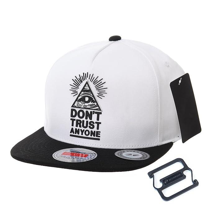 WITHMOONS Cappellini da baseball Cappello Snapback Hat Illuminati Patch Hip  Hop Baseball Cap AL2390 (White)  Amazon.it  Abbigliamento 89c50d7d483c