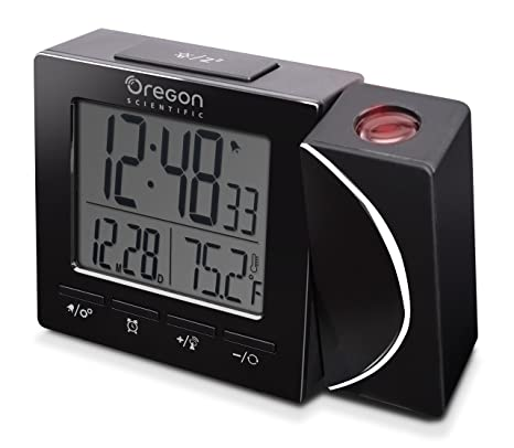 Oregon Scientific RM-512-P Reloj Proyector Radio Controlado, Negro, 100 x