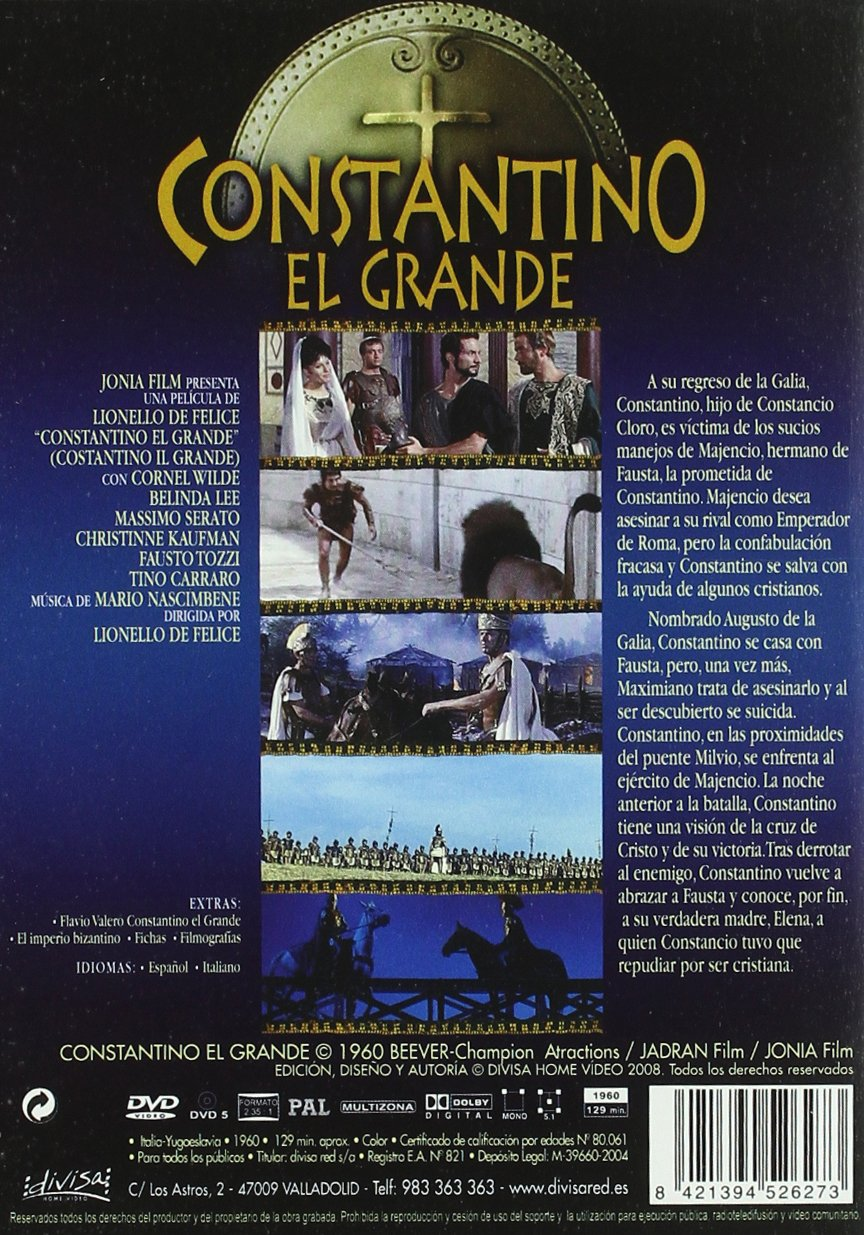 Amazon.com: constantino el grande (Dvd) Italian Import ; Lionello De Felice: Movies & TV